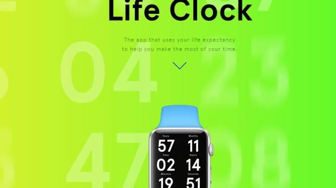 Life Clock, scopri quanto ti resta da vivere