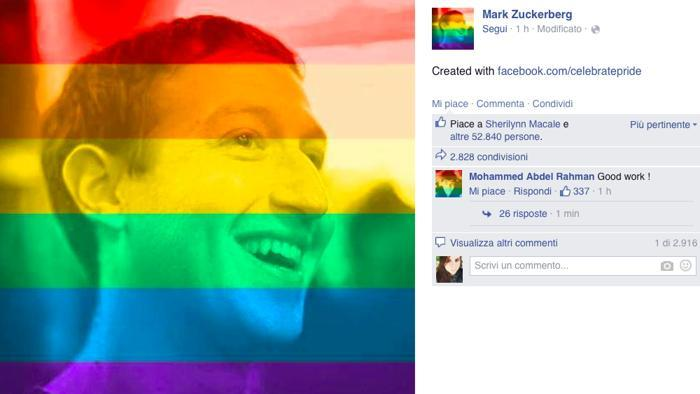Foto colorate su Facebook: supporto gay o esperimento?