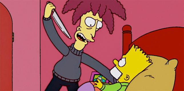 Telespalla Bob uccide Bart, ma solo nello speciale di Halloween