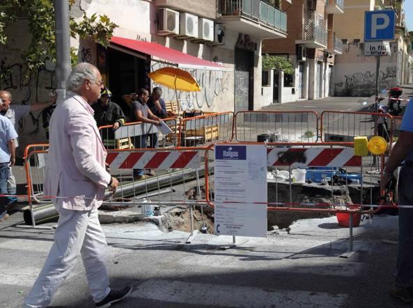 Roma tre operai ustionati stavano lavorando alla rete del gas