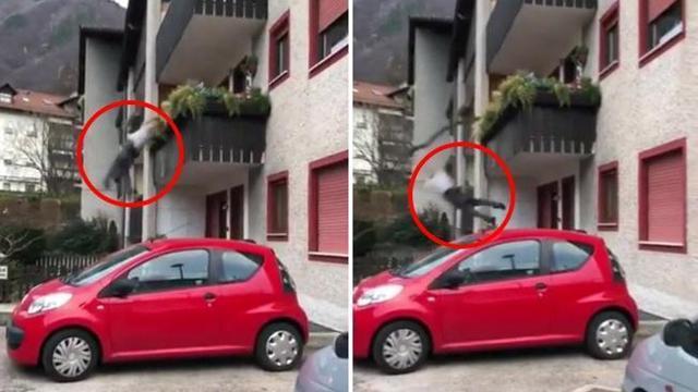 Litiga con un passante, per sputargli addosso cade dal balcone