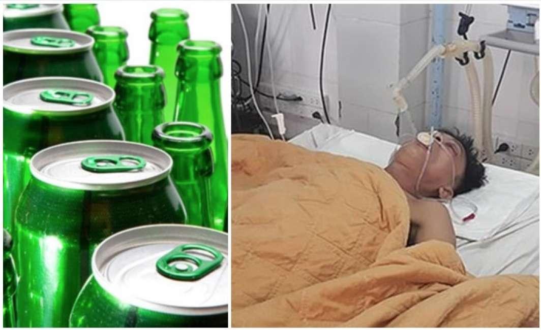 I medici gli pompano 15 lattine di birra nello stomaco e gli salvano la vita